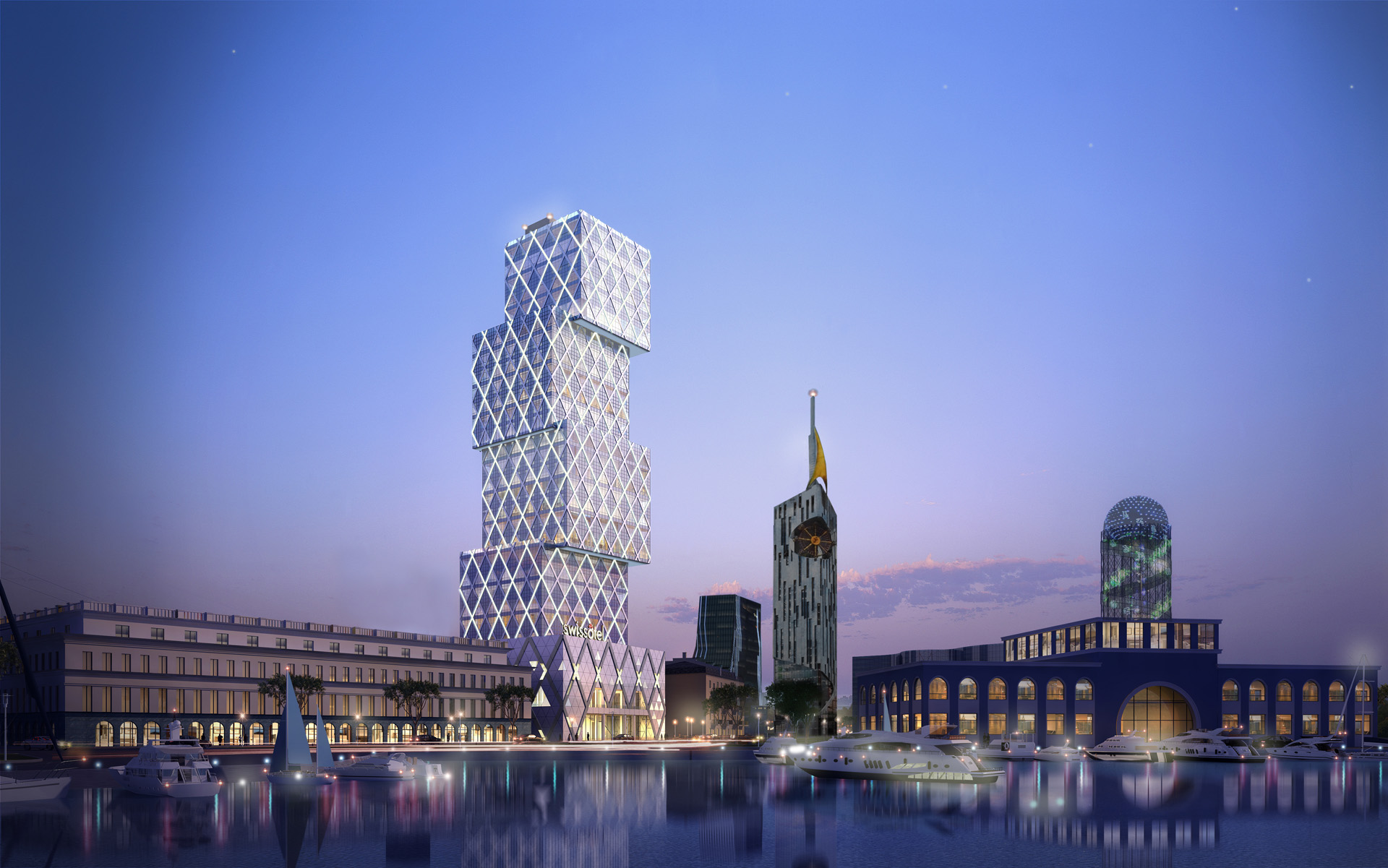 G1 architecture cubic tower for Cubic hotel london