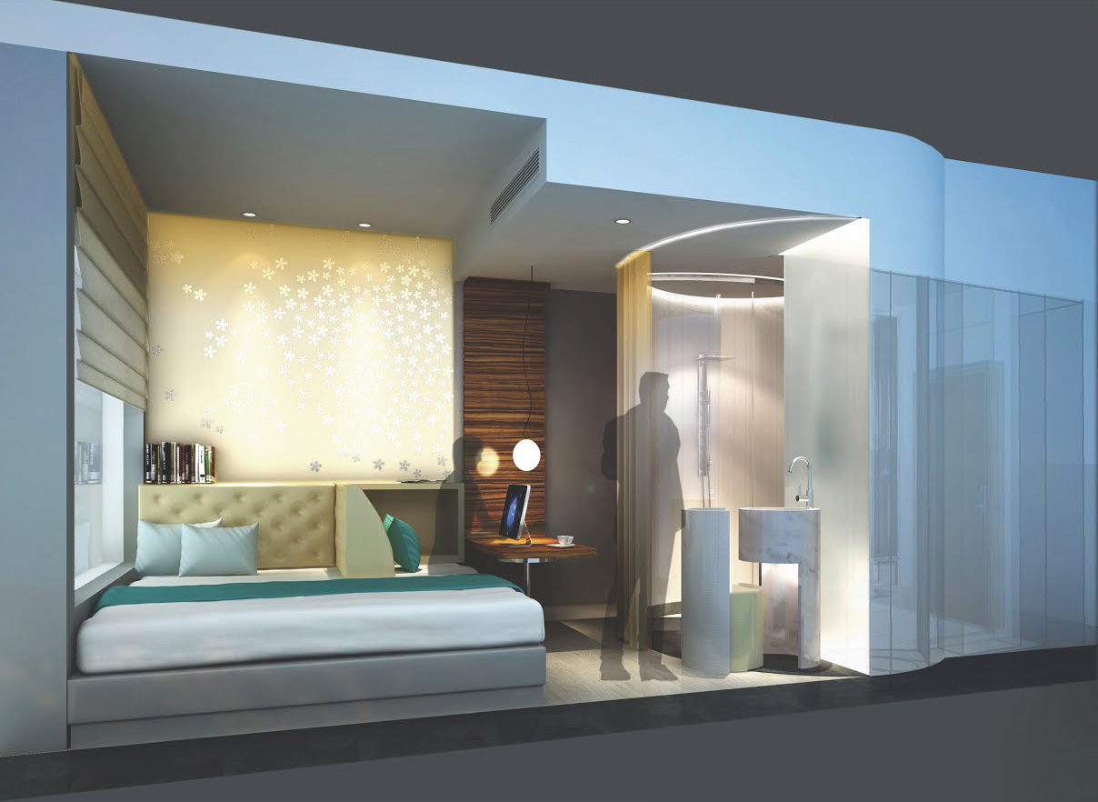 G1 architecture bd small hotel room competition 2012 for Small design hotels
